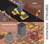 construction isometric... | Shutterstock .eps vector #374616802