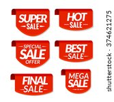 sale tags labels. special offer ... | Shutterstock .eps vector #374621275
