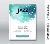 jazz music vector poster design.... | Shutterstock .eps vector #374621662