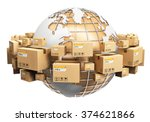 creative global logistics ... | Shutterstock . vector #374621866