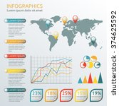 infographics template with... | Shutterstock .eps vector #374625592