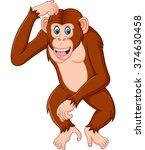 Chimpanze Cartoon Thinking