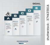 5 steps infographics vector... | Shutterstock .eps vector #374635816