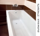 white luxury bathtub in... | Shutterstock . vector #374636476