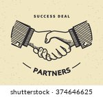 two business partners agreed a... | Shutterstock .eps vector #374646625