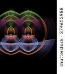 abstract  fractal   computer  ... | Shutterstock . vector #374652988