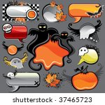 Halloween  Vector Set Of Desig...