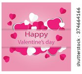 happy valentine day vector | Shutterstock .eps vector #374664166