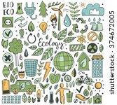 hand drawn sketch elements set. ... | Shutterstock .eps vector #374672005