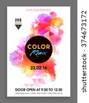 colorful abstract design... | Shutterstock .eps vector #374673172
