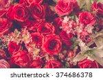 Bouquet Of Rose Flower. Vintage ...