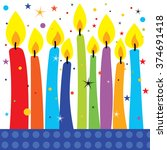 candles party design vector can ... | Shutterstock .eps vector #374691418