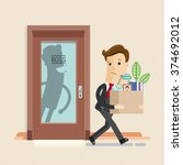 illustration of dismissal... | Shutterstock .eps vector #374692012