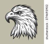 eagle head in profile. | Shutterstock .eps vector #374693902