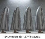 figures covered in gray | Shutterstock . vector #374698288