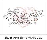 happy valentine's day hand... | Shutterstock .eps vector #374708332