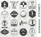 golf labels  badges and emblems   Shutterstock .eps vector #374708872