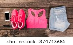women's casual clothes and...   Shutterstock . vector #374718685