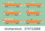 Set Of Cars  Vector Flat Style