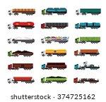 transport trucks   Shutterstock .eps vector #374725162