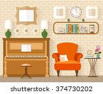 interior with furniture and... | Shutterstock .eps vector #374730202