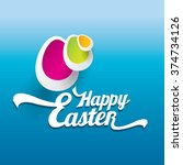 vector happy easter... | Shutterstock .eps vector #374734126