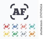 autofocus photo camera sign... | Shutterstock .eps vector #374745616