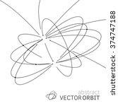 vector orbit lines. modern... | Shutterstock .eps vector #374747188
