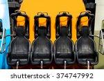 roller coaster seats at... | Shutterstock . vector #374747992