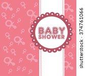 announcement baby shower card....   Shutterstock .eps vector #374761066