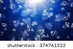 glittering diamond with light... | Shutterstock . vector #374761522