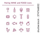 vector set of line icons for... | Shutterstock .eps vector #374766832