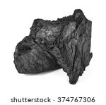 Coal Isolated On White...