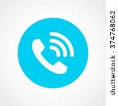 phone icon isolated on white...
