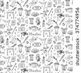 seamless background hand drawn... | Shutterstock .eps vector #374774956