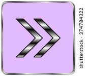 vector icon arrow | Shutterstock .eps vector #374784322