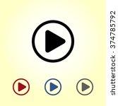 play button sign icon  vector... | Shutterstock .eps vector #374785792
