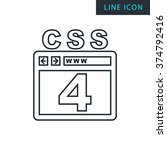modern thin line icon of css 4.
