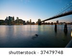 new york skyline at night | Shutterstock . vector #37479748
