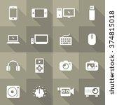 vector flat icon set   gadget  | Shutterstock .eps vector #374815018