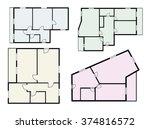 flat projects vector set    Shutterstock .eps vector #374816572