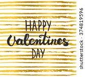hand lettering calligraphic... | Shutterstock . vector #374819596