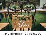 wedding. banquet. honeymoon... | Shutterstock . vector #374836306