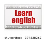 education concept  newspaper... | Shutterstock . vector #374838262