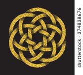 golden glittering logo template ...   Shutterstock .eps vector #374838676