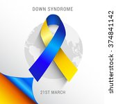 world down syndrome day. | Shutterstock .eps vector #374841142