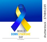 world down syndrome day. | Shutterstock .eps vector #374841235
