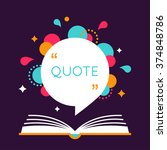 open book with space for quote. ... | Shutterstock .eps vector #374848786