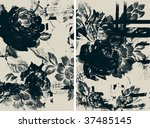 vector flower background | Shutterstock .eps vector #37485145