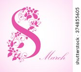 8 march  international women's... | Shutterstock . vector #374855605